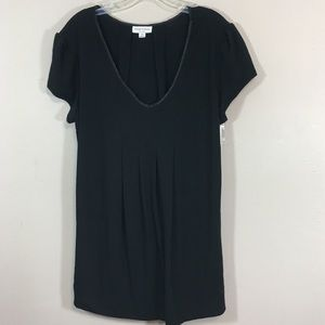 👄 NWT Liz Lange V-Neck Top Black XL Maternity